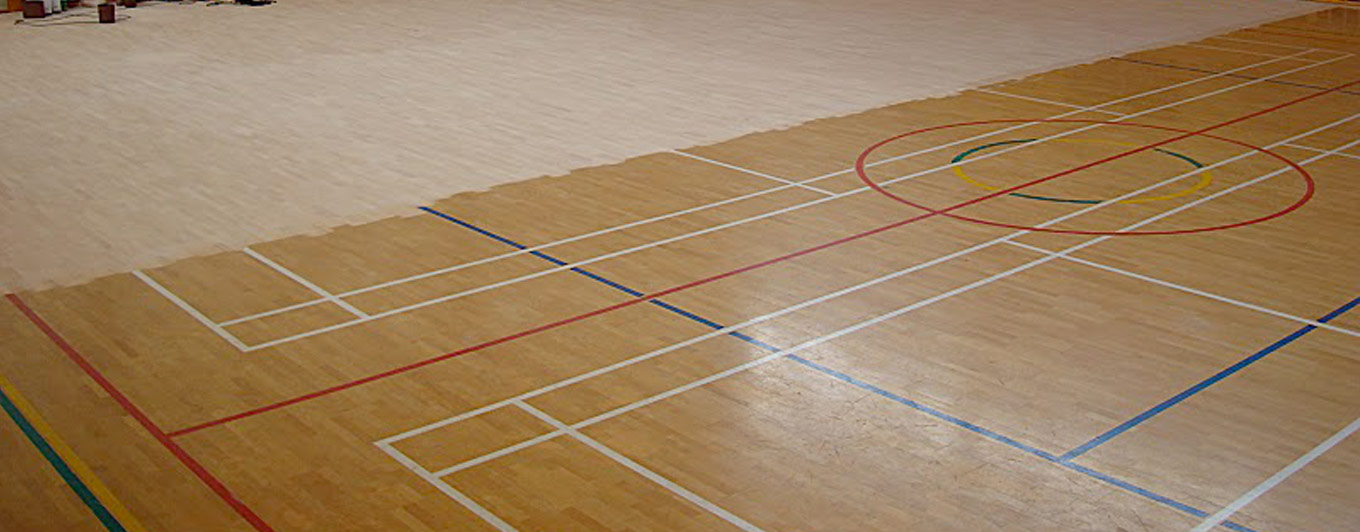 <span>SPORTS FLOORING</span><br />sanding, installation,<br />replacement & repairs