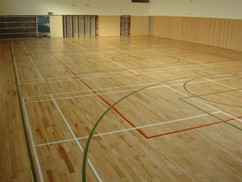 Basketball floor refitting