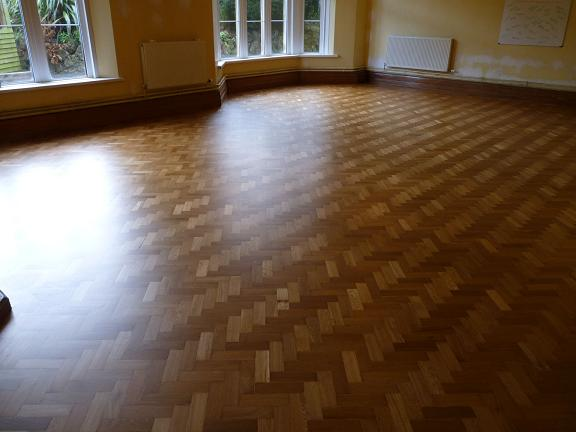 Broadway Lodge parquet renovation