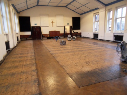 Church floor sanding in Bristol