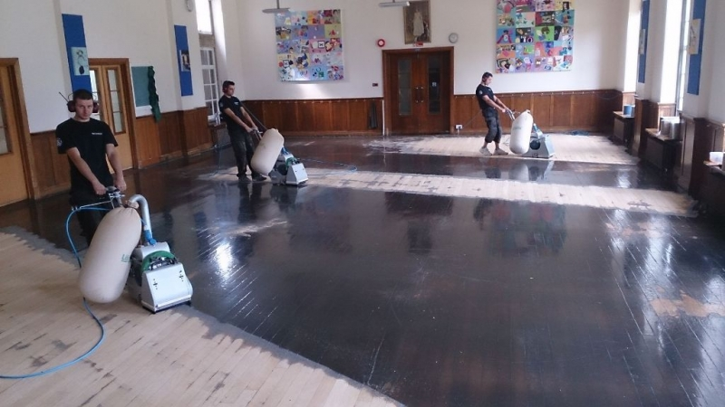 St. Mary's School parquet renovation