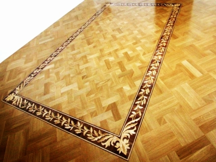 Wooden floor borders
